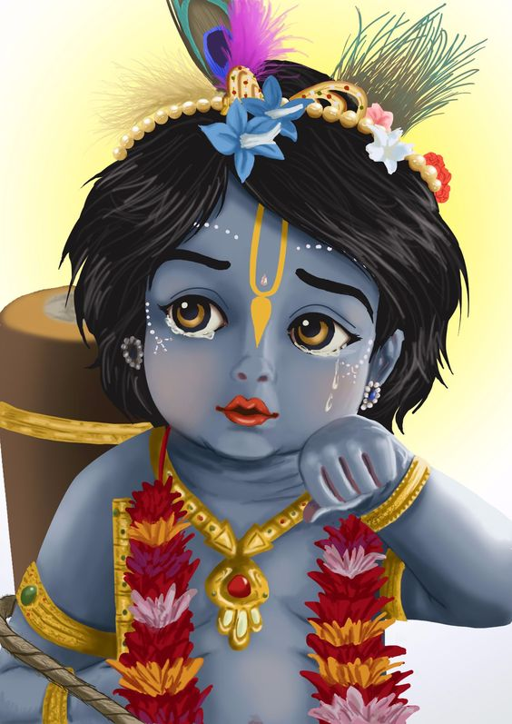 cute baby krishna images download