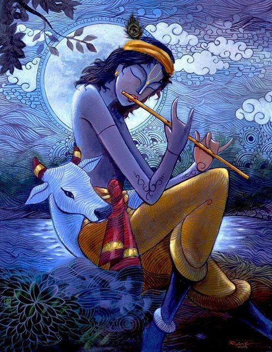 krishna drawing images with colour