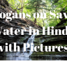 """पानी बचाओ  के नारे हिंदी में फोटो के साथ"" (Slogans on Save Water in Hindi with Pictures)"